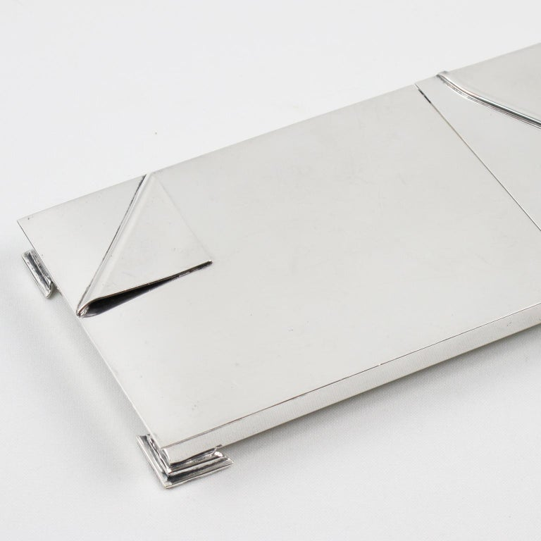 Metal 1960s Silver Plate Extra Long Box For Sale
