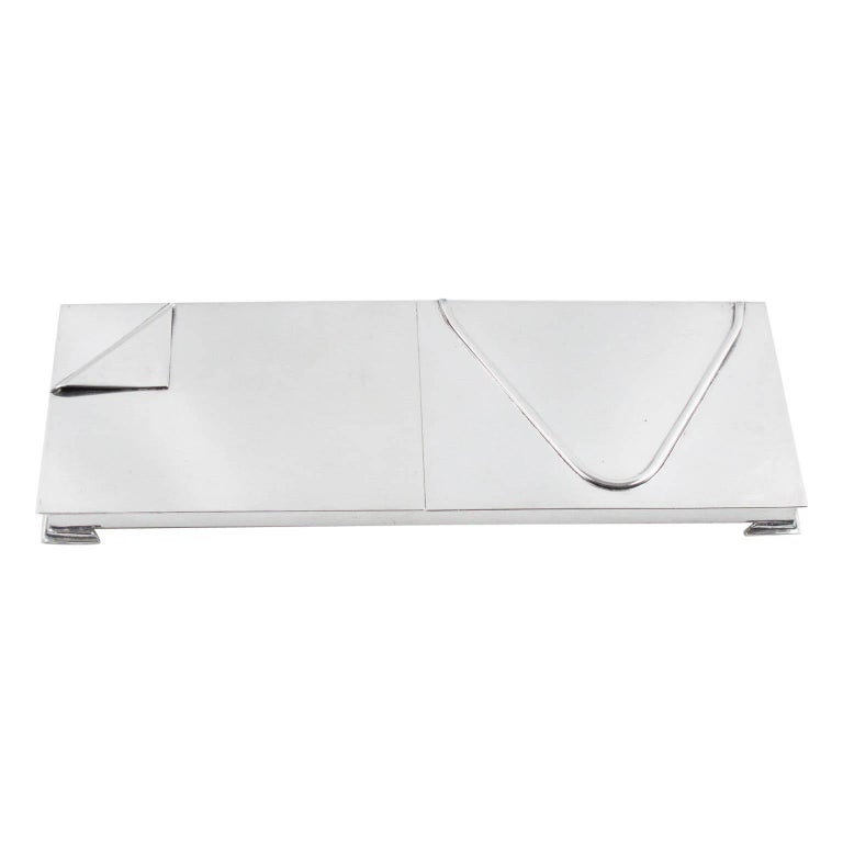 1960s Silver Plate Extra Long Box For Sale