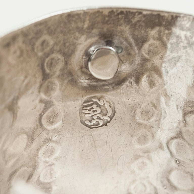 1960s Silver Tribal Cuff, Siwa Oasis, Egypt In Good Condition For Sale In Point Richmond, CA