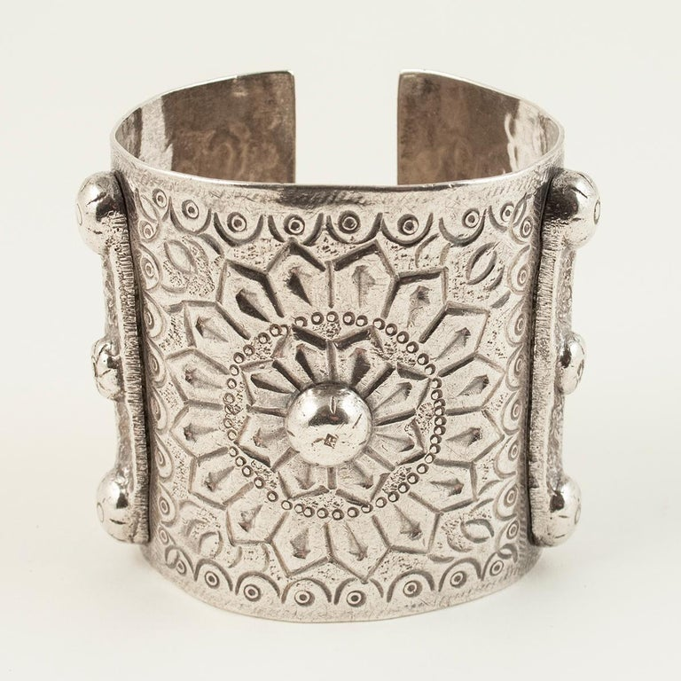 1960s Silver Tribal Cuff, Siwa Oasis, Egypt For Sale 1