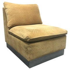 1960s Slipper Chair Style of James Mont