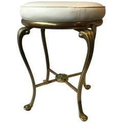 1960s Solid Brass Stool