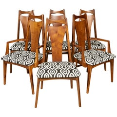 1960s Solid Walnut Dining Chairs, Set of Six