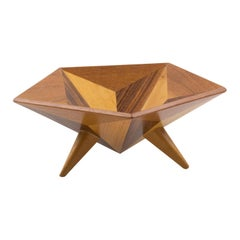 1960s Space Age Danish Wood Bowl Centerpiece Catchall