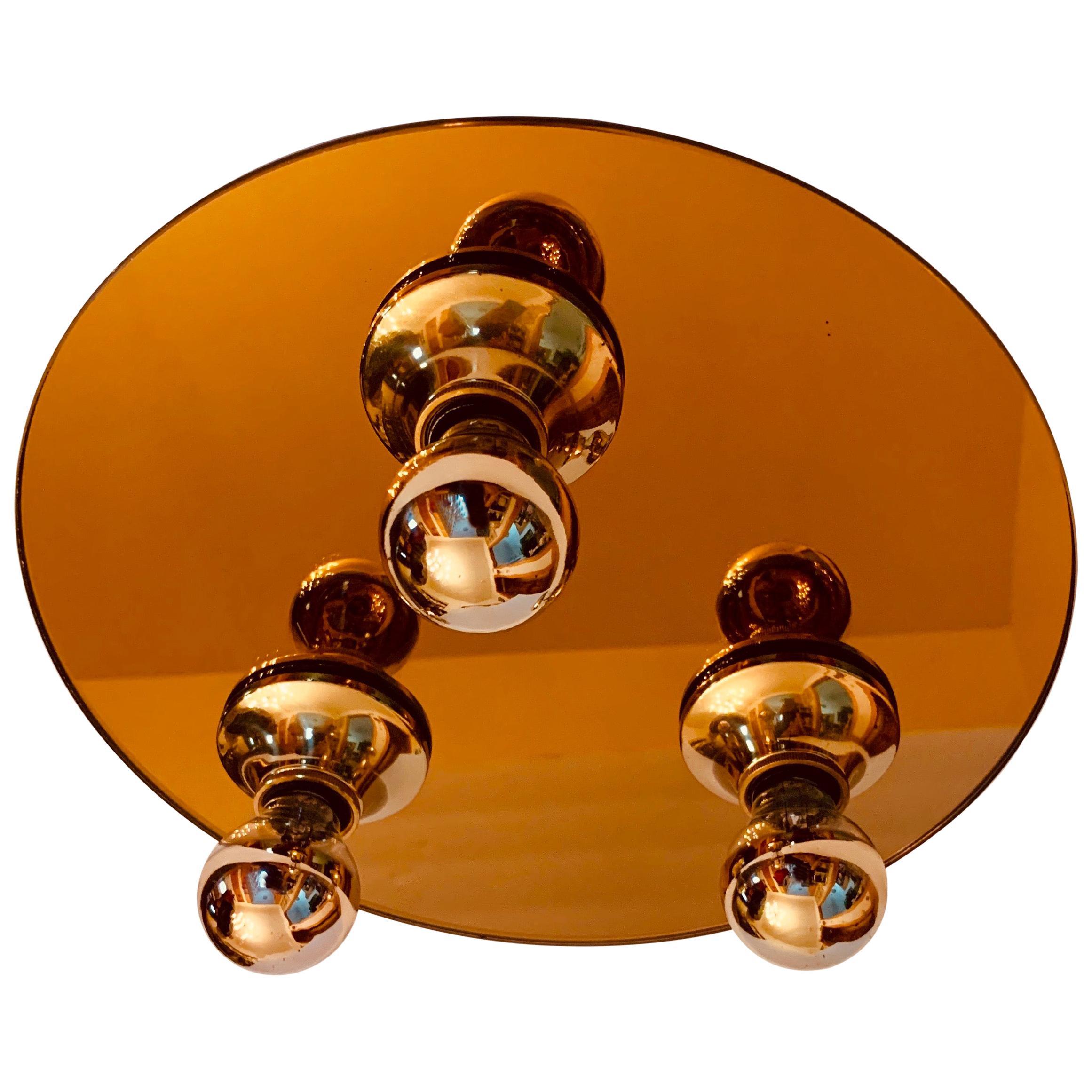 1960s Space Age Modernist Flush Light