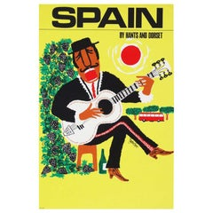 1960s Spain Travel Poster by Royston Cooper Pop Art