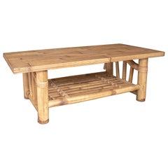 1960s Spanish Bamboo Coffee Table