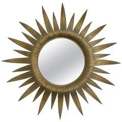 1960s Spanish Metal Sunburst Mirror