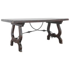1960s Spanish Style Wooden Dining Table