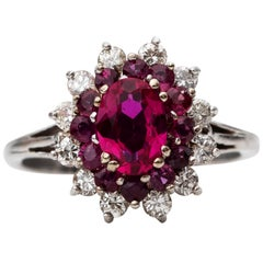 1960s Spinel, Ruby and Diamond Ring