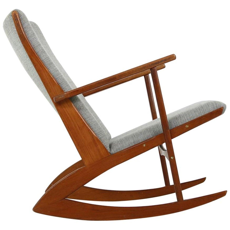 1960s Søren Georg Jensen Teak Rocking Chair Mod 97 Danish Modern Lounge Rocker
