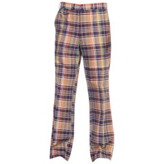 1960S STANLEY BLACKER Cotton Men's Plaid Pants