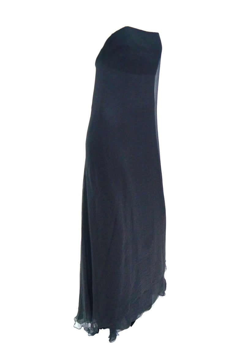 Women's 1960s Stavropoulos Black Silk Evening Dress  For Sale