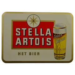 1960s Stella Artois Belgian Beer Sign by Rob Otten