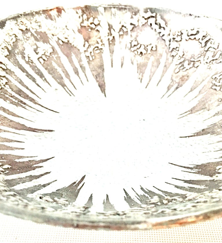 1960s Sterling Silver & Blown Glass Serving Pieces Set of Four by Dorothy Thorpe For Sale 1