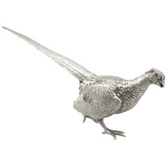 1960s Sterling Silver Table Pheasant