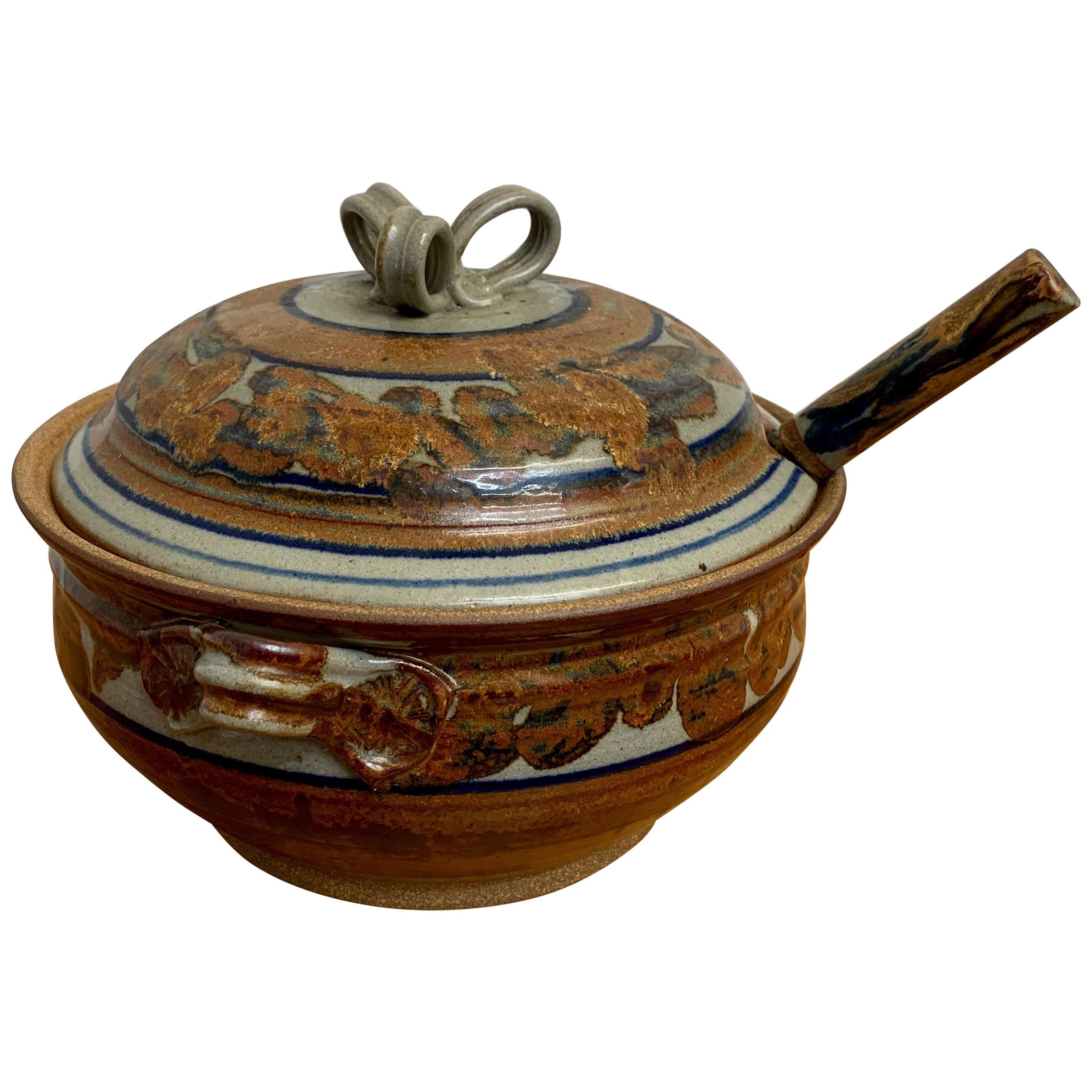 1960s Stoneware Soup Tureen