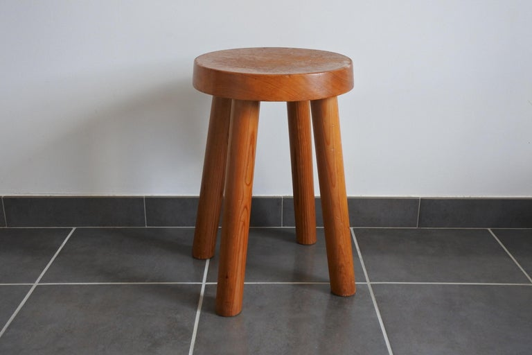 Admirable Charlotte Perriand 1960S Four Legged Pine Wood Stool From Ibusinesslaw Wood Chair Design Ideas Ibusinesslaworg