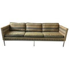1960s Straight Back Chrome Sofa