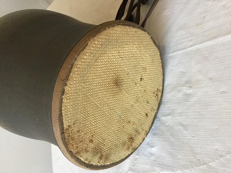 1960s Striped Ceramic Lamp For Sale 4