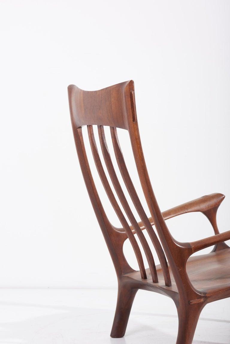1960s Studio Lounge Chair in Black Walnut by J. Benjamin Rouzie For Sale 4