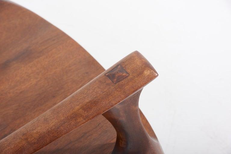 1960s Studio Lounge Chair in Black Walnut by J. Benjamin Rouzie For Sale 6