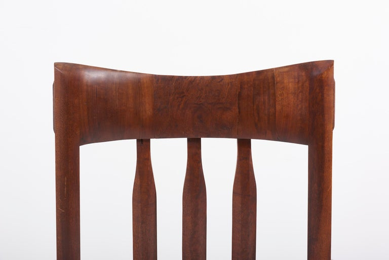 1960s Studio Lounge Chair in Black Walnut by J. Benjamin Rouzie For Sale 7