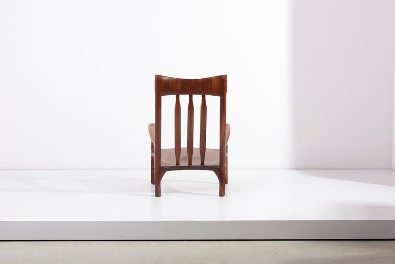 1960s Studio Lounge Chair in Black Walnut by J. Benjamin Rouzie In Excellent Condition For Sale In Berlin, DE