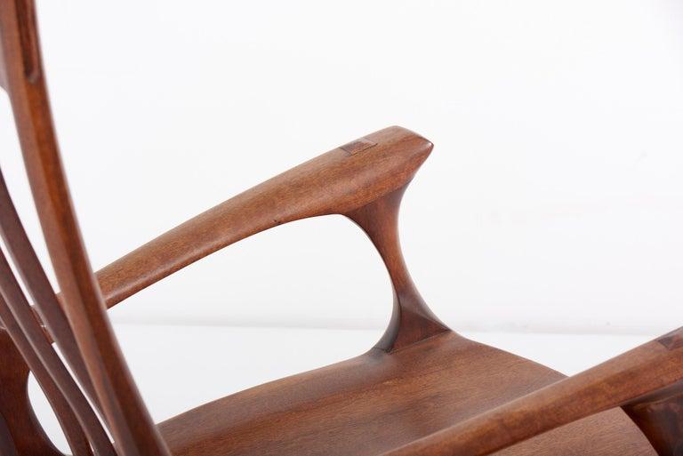 1960s Studio Lounge Chair in Black Walnut by J. Benjamin Rouzie For Sale 2