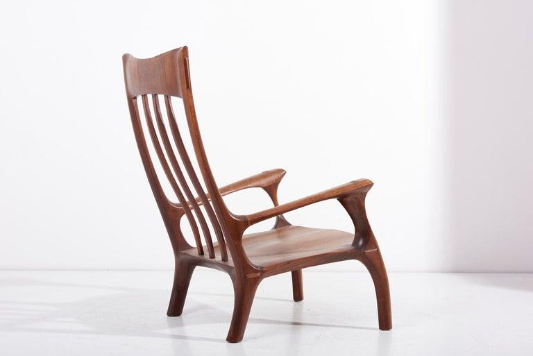 1960s Studio Lounge Chair in Black Walnut by J. Benjamin Rouzie For Sale 3
