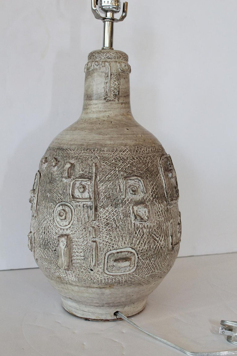 Ceramic 1960s Studio Pottery Lamp by W. Stephen Wing For Sale