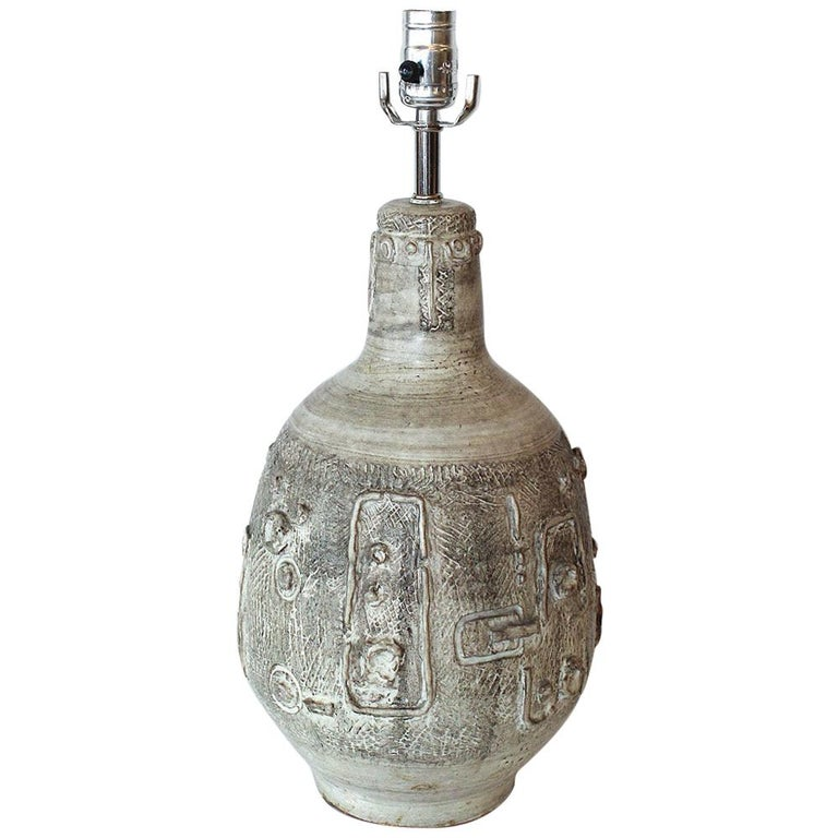 1960s Studio Pottery Lamp by W. Stephen Wing For Sale