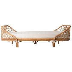 1960s Style Rattan Daybed