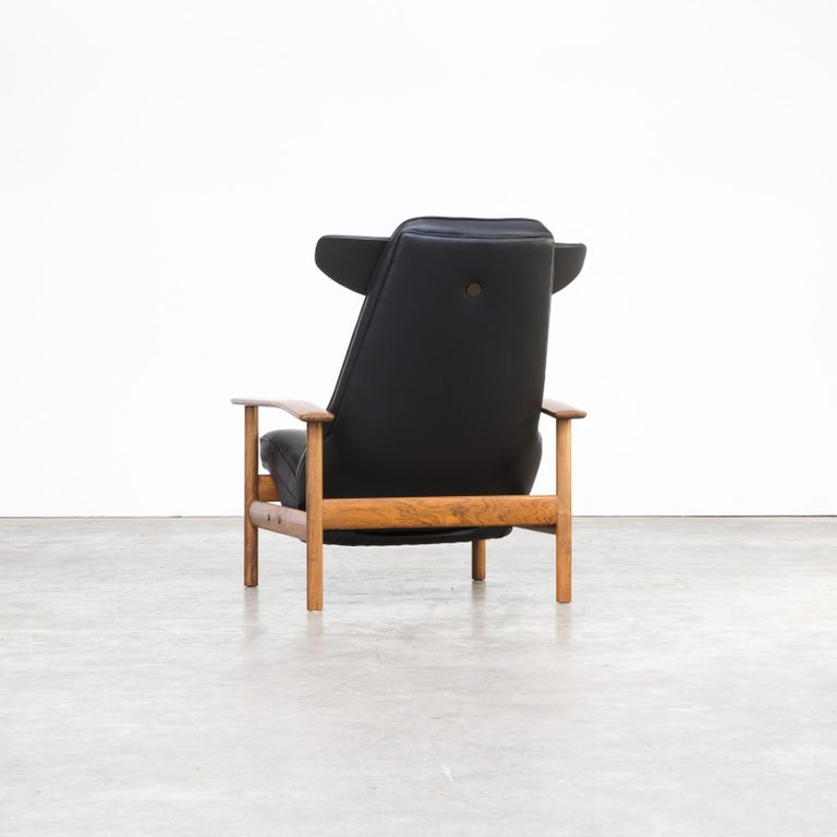 Leather 1960s Sven Ivar Dysthe lounge chair for Dokka Møbler For Sale
