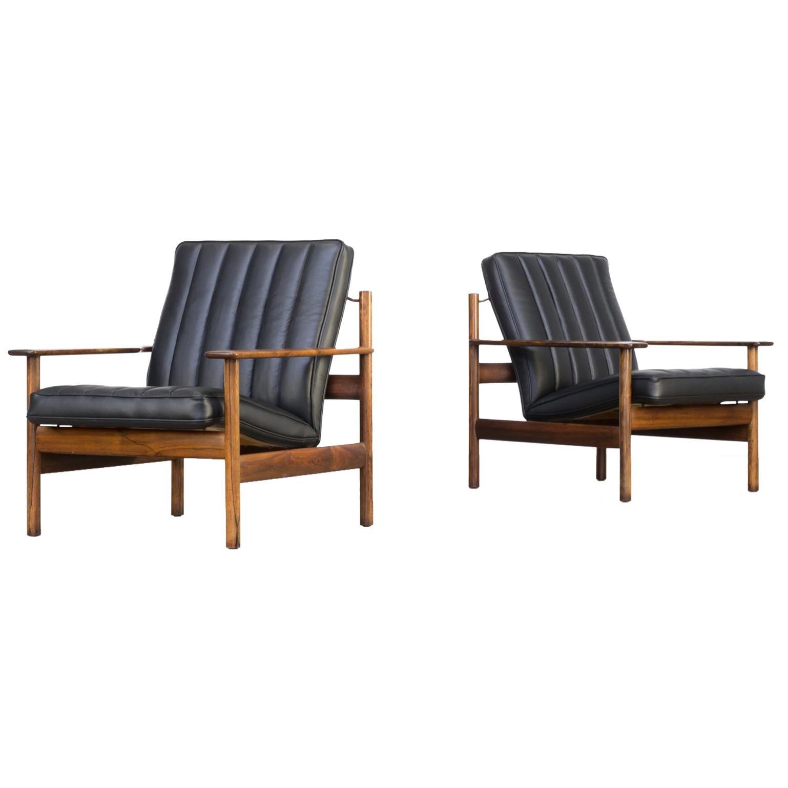 1960s Sven Ivar Dysthe Lounge Chair for Dokka Mobler Set of 2