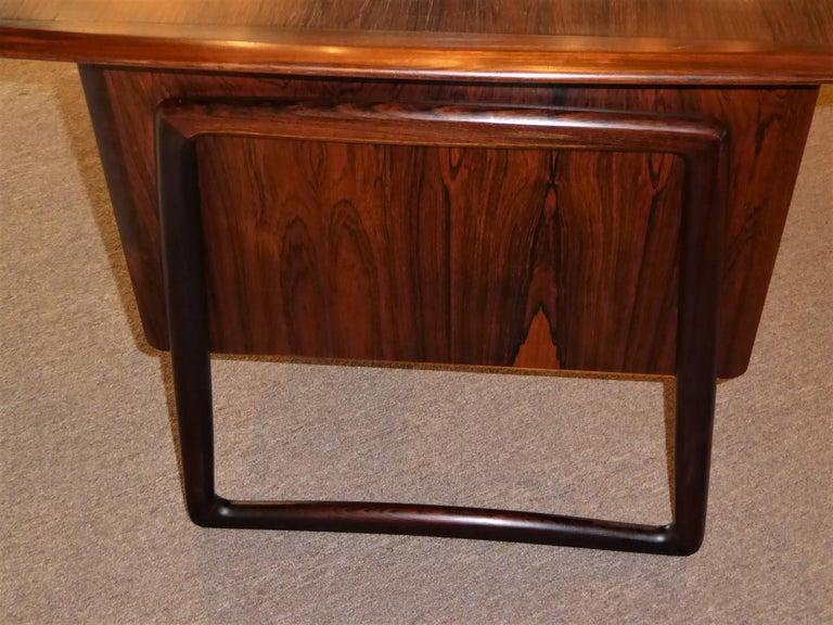 1960s Svend Aage Madsen Rosewood Executive Desk Denmark For Sale 4