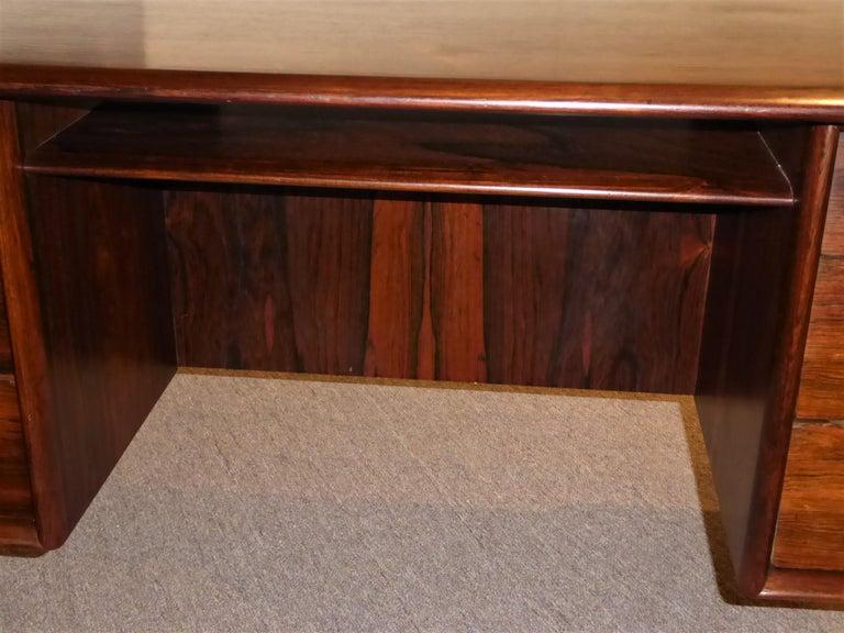 1960s Svend Aage Madsen Rosewood Executive Desk Denmark For Sale 7
