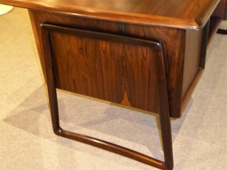 1960s Svend Aage Madsen Rosewood Executive Desk Denmark For Sale 8