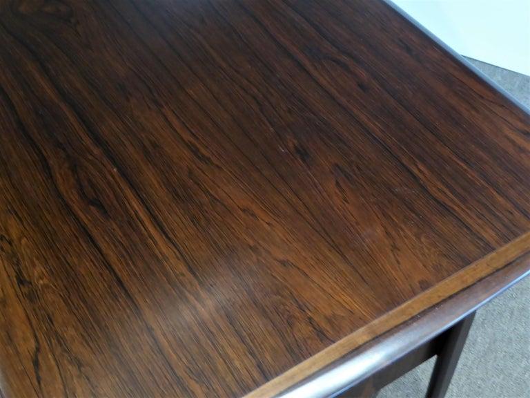 1960s Svend Aage Madsen Rosewood Executive Desk Denmark For Sale 9