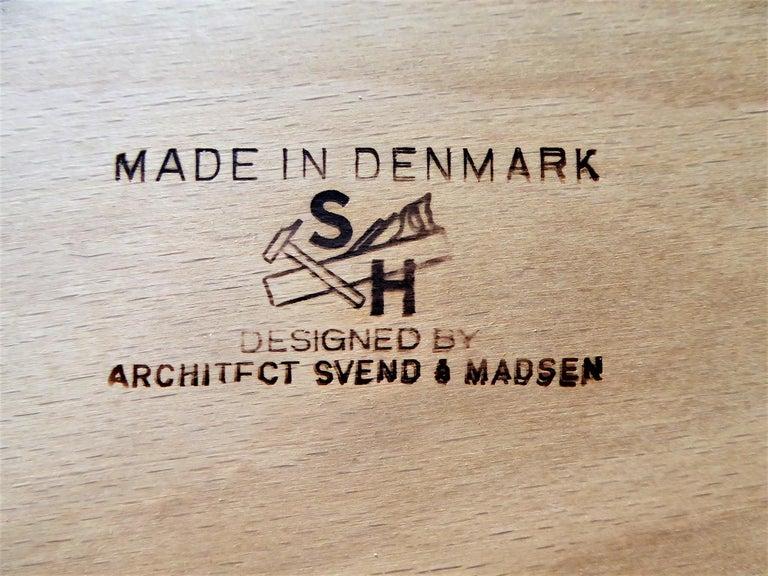 1960s Svend Aage Madsen Rosewood Executive Desk Denmark For Sale 11