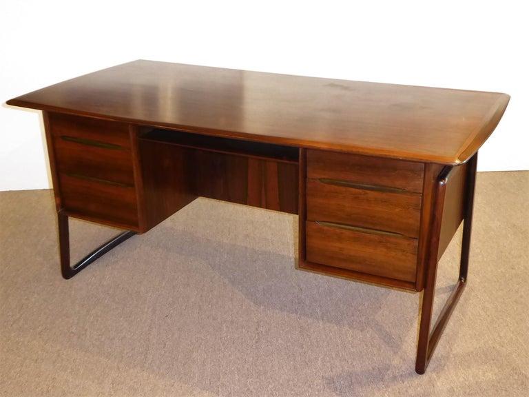 Scandinavian Modern 1960s Svend Aage Madsen Rosewood Executive Desk Denmark For Sale