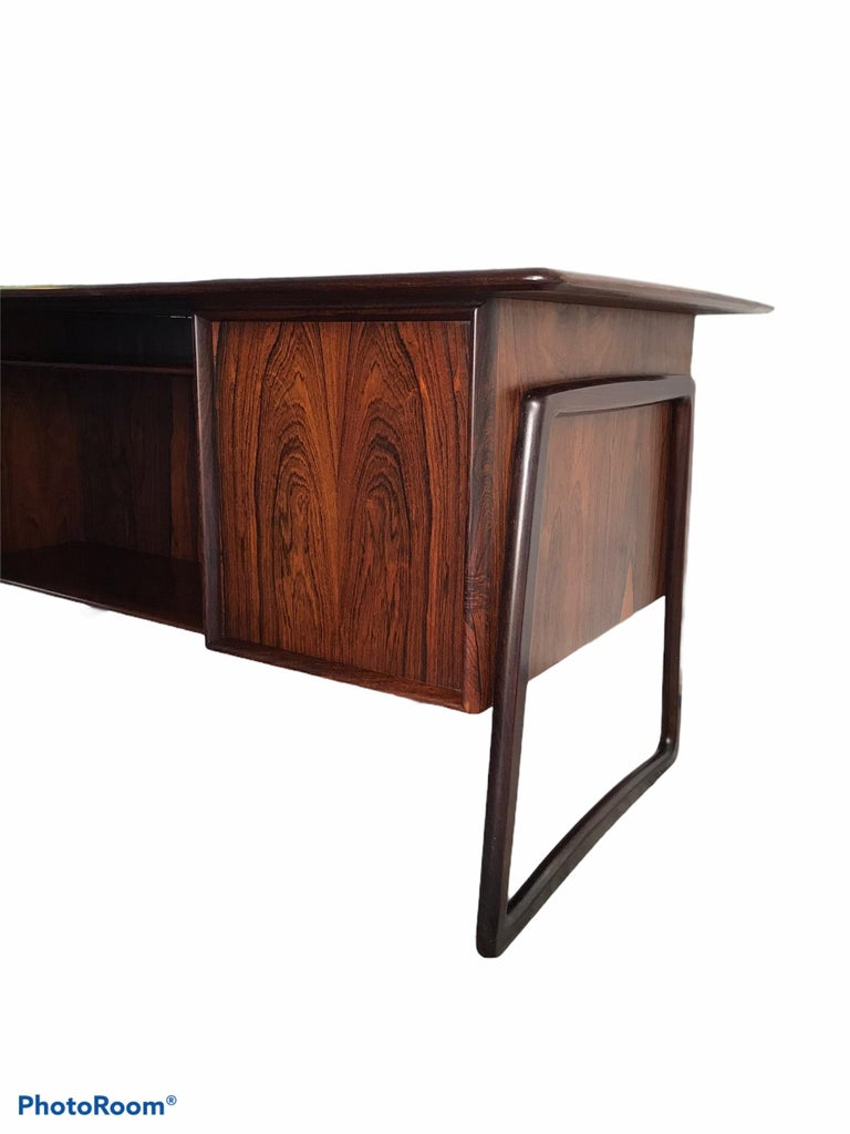 1960s Svend Aage Madsen Rosewood Executive Desk Denmark For Sale 1