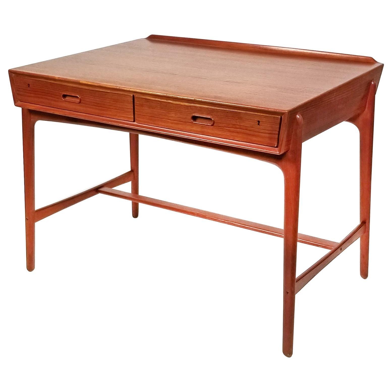 1960s Svend Age Madsen Danish Modern Teak Writing Desk for Sigurd Hansen