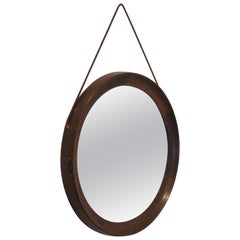 1960s Swedish Circular Wall Mirror by Uno and Osten Kristiansson