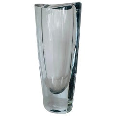 1960's Swedish Crystal Vase by Orrefors