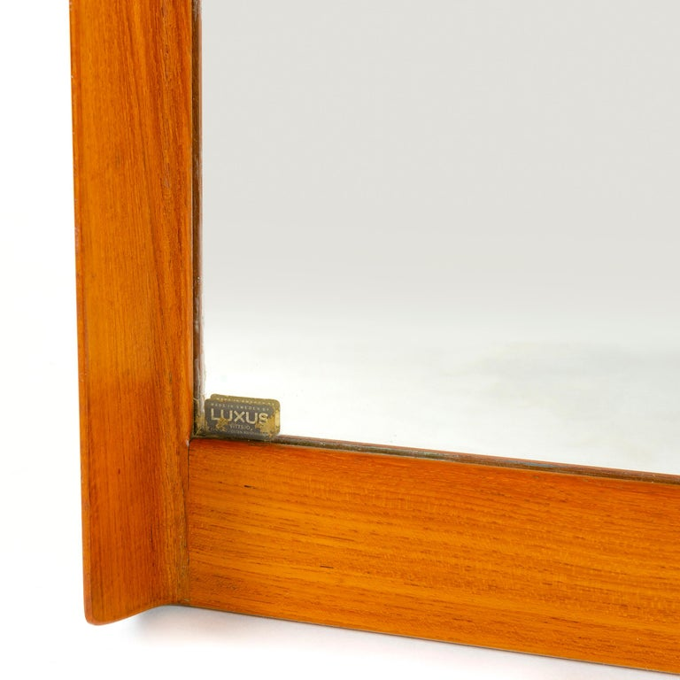 Scandinavian Modern 1960s Swedish Full Length Mirror by Uno & Osten Kristiansson for Luxus For Sale
