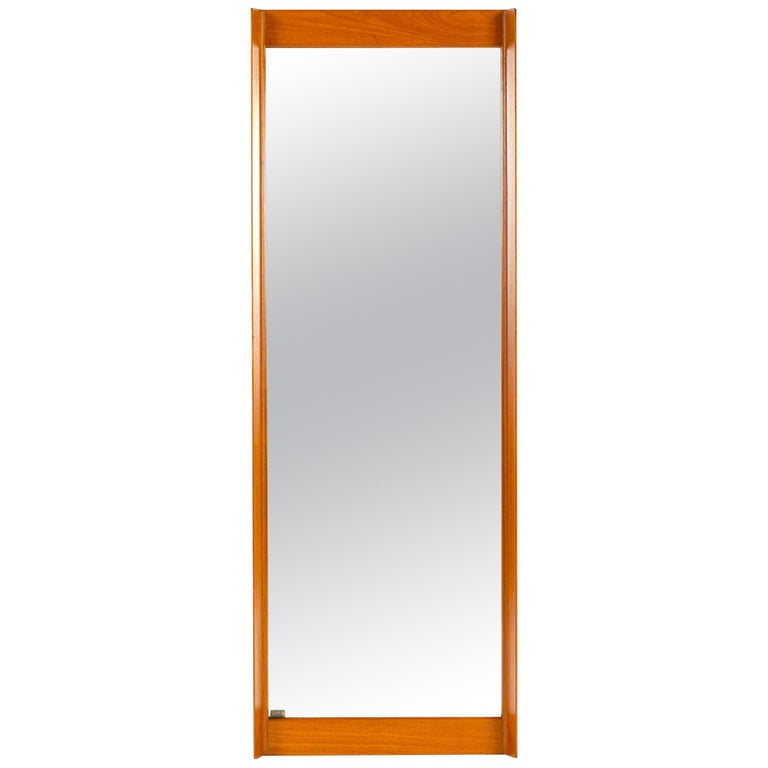 1960s Swedish Full Length Mirror by Uno & Osten Kristiansson for Luxus For Sale