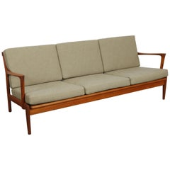1960s Swedish Solid Teak 'Kuba' Sofa by Bertil Fridhagen