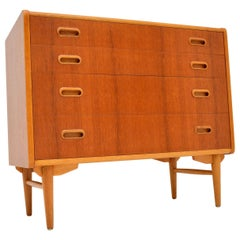 1960s Swedish Teak and Oak Vintage Chest of Drawers