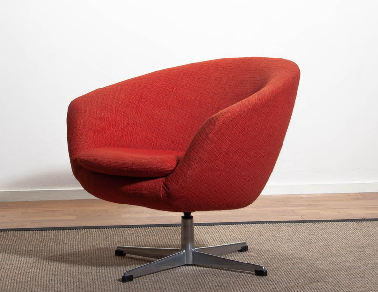 1960s Swivel Lounge Chair By Carl Eric Klote For Overman